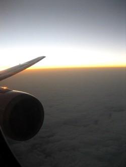 香港からの上空で