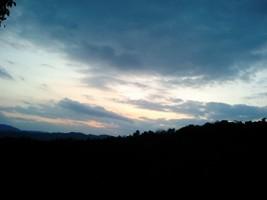 京都・御室からの夕焼け