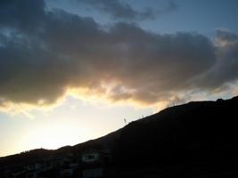 生駒山西側から見た夕陽