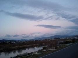 底冷え京都の夕方
