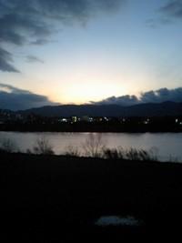 底冷え京都の夕日 ノーマルカラー