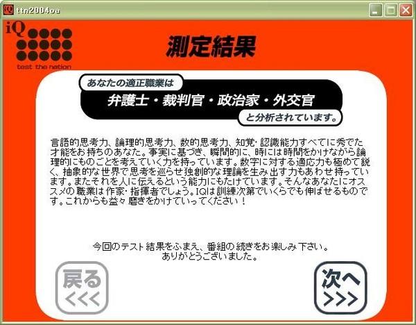テスト・ザ・ネイション 2004 職業