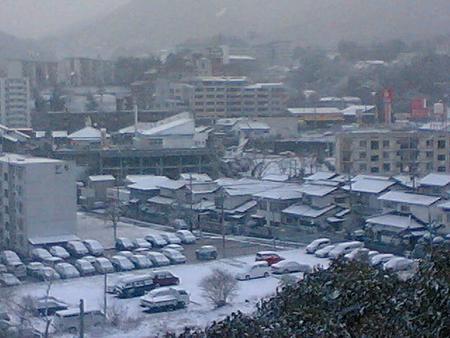 北九州の雪の様子