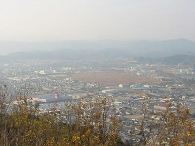 米の山から市内一望