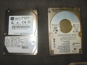 2.5インチHDDの比較(TOSHIBAとSeagate)