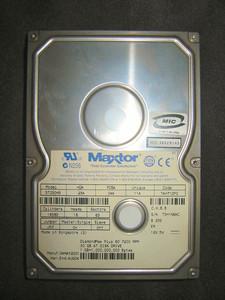 クラッシュしたMaxtor HDD