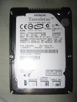 HITACHI Travelstar 40GB