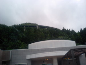 人吉ループ橋(高速より)