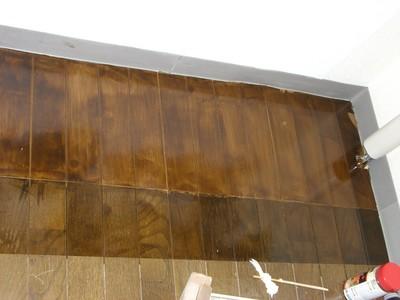 フローリングのニス塗り 完成2