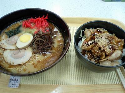 北熊本SA 焼豚丼&ラーメン