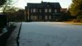 [twitter] 洋館の庭は雪。旧古河庭園