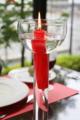 [京都] 松ヶ崎 サンマルク 赤いキャンドルとグラス