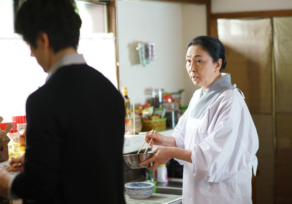 シロさんとお母さんのお料理シーン