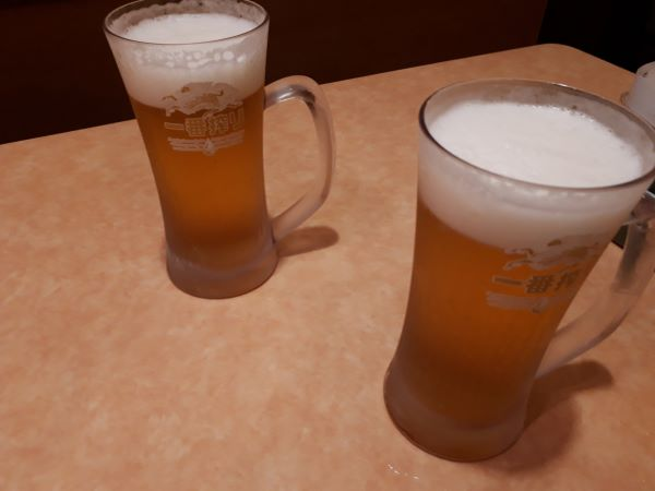 ビールが提供されたところ