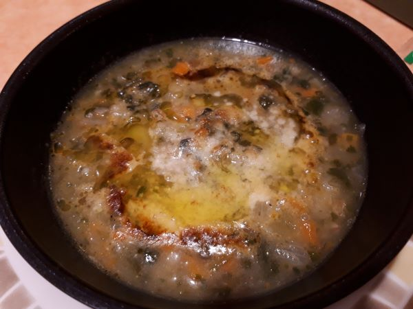レンズ豆とスペルト小麦のミネストローネの外見