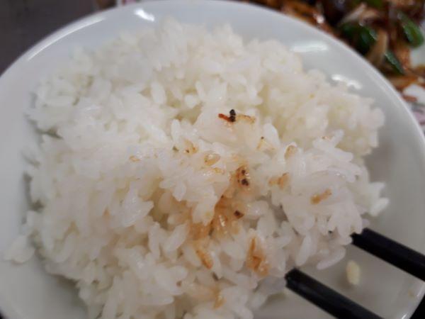 白ごはんを食べている