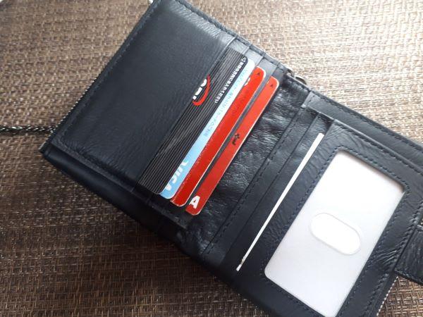 今回アマゾンで購入したABAKOMのチェーン付き財布