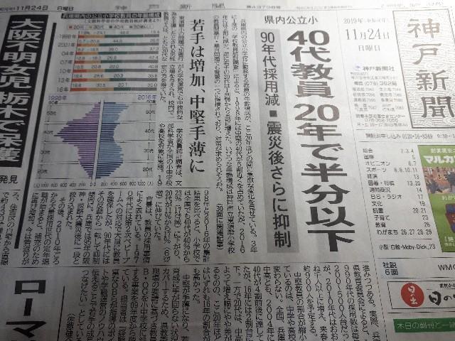 神戸新聞(2019.11.24)