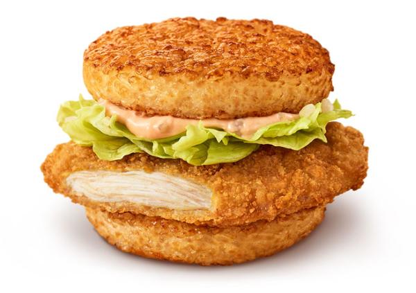●マクドナルド「ごはんバーガー」ごはんチキンフィレオのイメージ