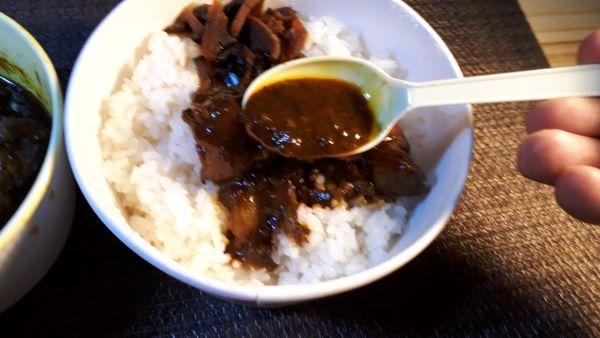【松屋】本日発売「ごろごろ煮込みチキンカレー2020」を食べるところ(オリジナル写真)
