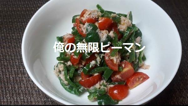 レシピ…おれの「無限ピーマン」の出来上がり図(オリジナル写真)