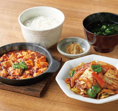 【やよい軒】「回鍋肉と麻婆豆腐の定食」のイメージ