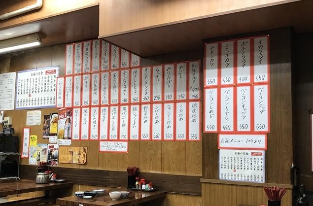 神戸元町 金時食堂の内観