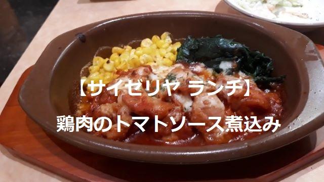 【サイゼリヤ ランチ】鶏肉のトマトソース煮込みの外見(オリジナル写真)
