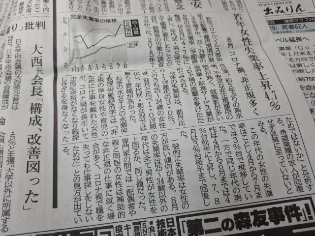 神戸新聞(2020.10.29)