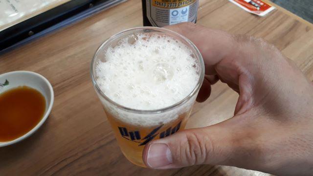 餃子の王将での飲食風景(オリジナル写真)