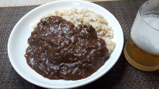 S&B「肉旨 ビーフキーマカレー」を食べる(オリジナル写真)