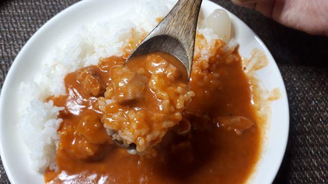 ファミリーマート「バターチキン カレー」を食べる(オリジナル写真)