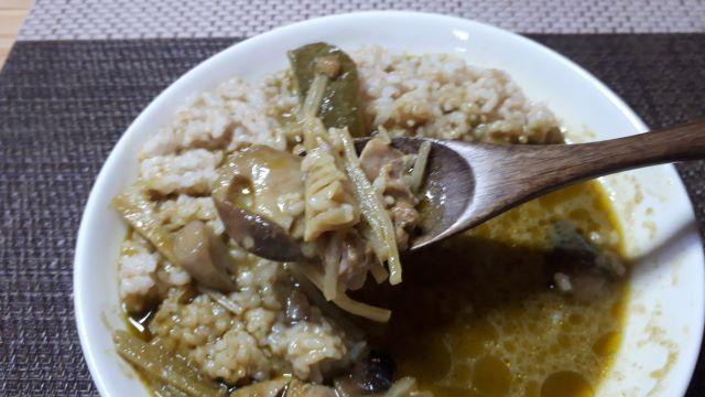 MUJI 無印良品「グリーン カレー」を食べる(オリジナル写真)