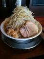 20100528豚とこむぎ(小ヤサイWニンニク玉ねぎ)