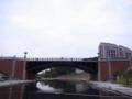 四ツ谷から移築された見附橋。ここは八王子のニュータウン。