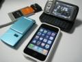 2009/09/28現在 所持している携帯電話(iPhone3GS・822SH・S11HT・W05K)