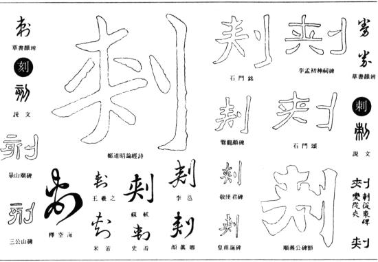 刺(『五体字鑑』 p. 78 より)