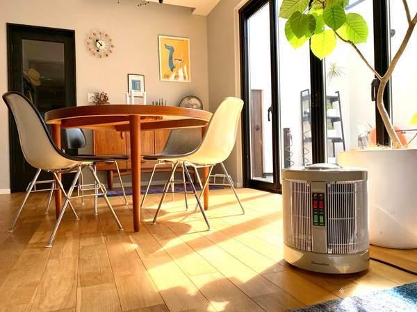 まるで日向ぼっこなヒーター夢暖望・暖話室。乾燥肌にも子供にも優しい暖房