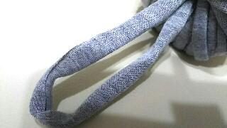 ダイソーズパゲッティ編み物ブログ3