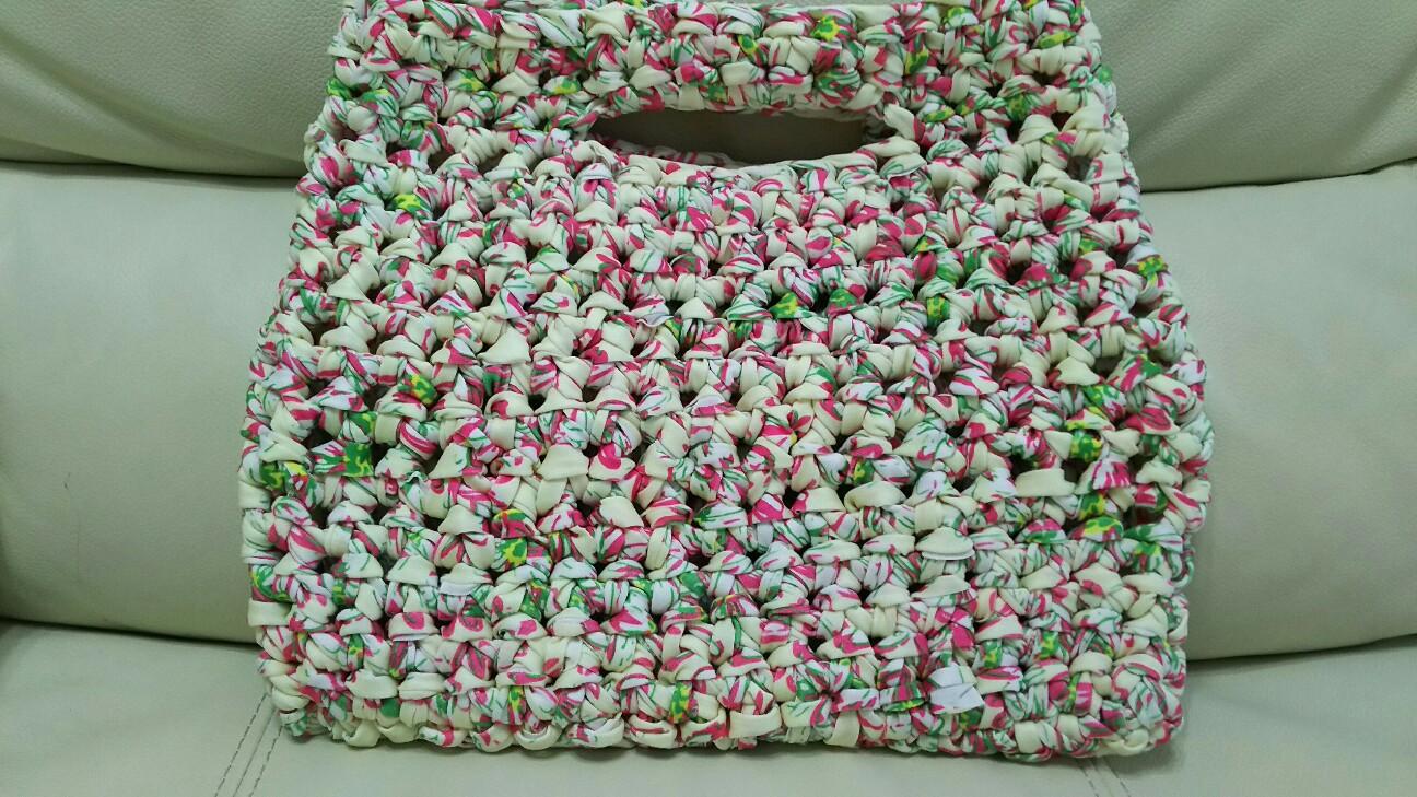 ダイソーティシャツヤーンバッグ編み物ブログ