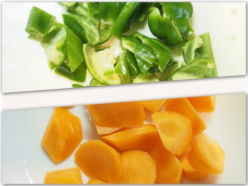 酢豚の野菜を準備