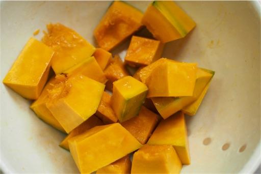 かぼちゃをレンジで蒸す