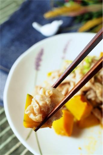 かぼちゃの生姜焼きあんかけの箸あげ