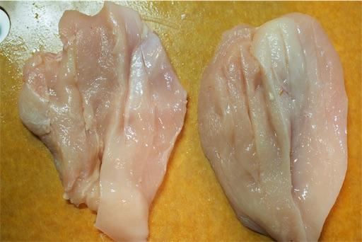 鶏むね肉の観音開き