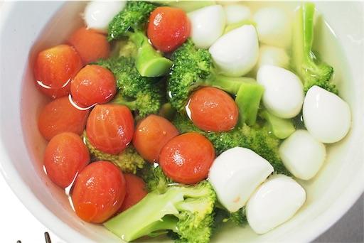 和風前菜の浅漬けの準備