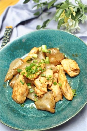 鶏むね肉とこんにゃくの炒め物の仕上がりイメージ