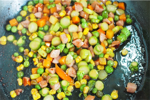 アスパラご飯の素を仕上げる
