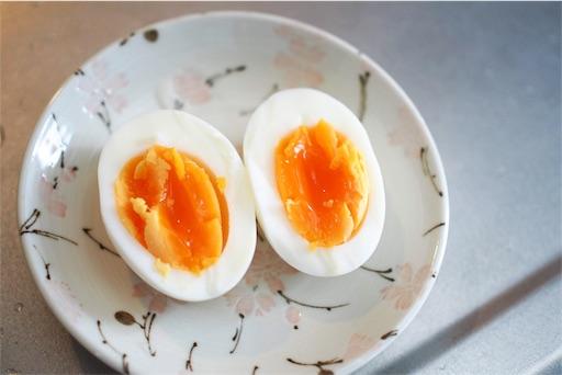 半熟茹で卵