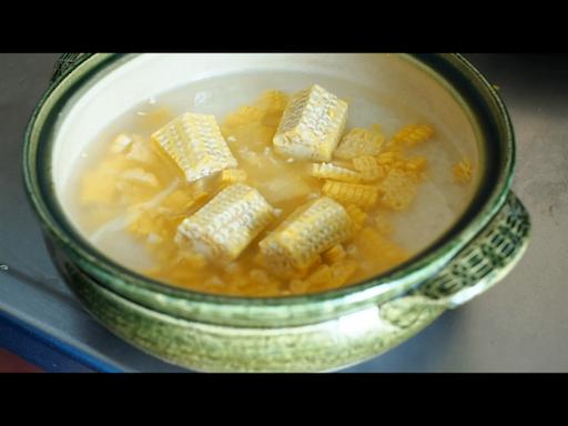 土鍋で炊く準備