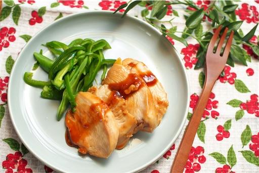 鶏むね肉のマーマレード煮